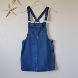 Forever 21 Denim Jean Overall Dress Size Small